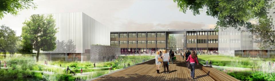 Lycée Internationale de Nantes - perspective d'entrée - François Leclercq